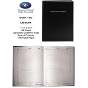 "Roaring Spring® Lab Research Notebook 77160, 8-3/4"" x 11-1/4"", White, 72 Sheets/Pad, 1 Pad/Pack"