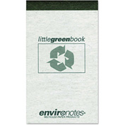 "Roaring Spring® Little Green Book 77355, 3"" x 5"", White, 60 Sheets/Pad, 1/Pack"