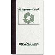 "Roaring Spring® Little Green Book 77356, 5"" x 3"", White, 60 Sheets/Pad, 1/Pack"