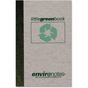 "Roaring Spring® Little Green Book 77357, 6"" x 4"", White, 60 Sheets, 1/Pack"