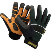 Classic Cut Resistant Kevlar Work Gloves, Green with Black Trim, 2XL