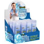 OccuNomix 931 MiraCool® Cooling Towel Display, Blue, 12 Pc./Display