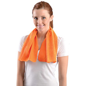 "OccuNomix 931 MiraCool® Cooling Towel, 29.5""L x 14""W, Orange"