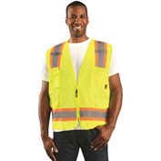 Value Solid Two-Tone Vest Class 2 Hi-Vis Yellow 2XL