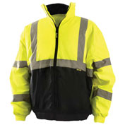 Value Bomber Jacket Class 3 Hi-Vis Yellow With Black Bottom L