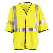 OccuNomix Class 3 Flame Resistant Single Stripe Solid Vest, Yellow, 4XL