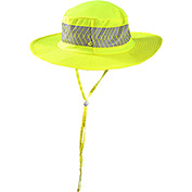Wicking & Cooling Ranger Hat With Sunglasses Holder, Hi-Vis Yellow, L