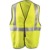 Premium Flame Resistant 5-Pt. Break-Away Solid Vest, Hi-Vis Yellow, 3XL
