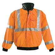 Premium Original Bomber Jacket, Hi-Vis Orange L