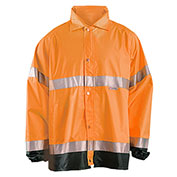Breathable Foul Weather Coat, Hi-Vis Orange, XL
