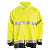 Breathable Foul Weather Coat, Hi-Vis Yellow, XL