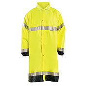 Premium Breathable Raincoat, Hi-Vis Yellow, M