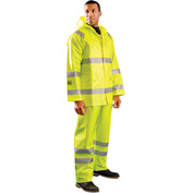 OccuNomix Class 3 Flame Resistant Rain Jacket HRC2 with 2 Pockets, Yellow, XL