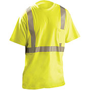 Classic Flame Resistant Short Sleeve T-Shirt, ANSI, Hi-Vis Yellow, 4XL