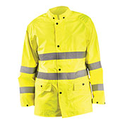 Breathable Rain Jacket Class 3 Hi-Vis Yellow 3XL