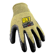Occunomix OK-140-013 Cut Protection Flame Resistant Gloves, ANSI Cut Level 4, M