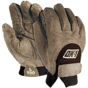 OccuNomix Anti-Vibration Premium Curve Technology Work Gloves, Brown, M, 1 Pair