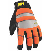 Occunomix OK-IG300-O-12 Waterproof Winter Protection Glove, Hi-Vis Orange, S