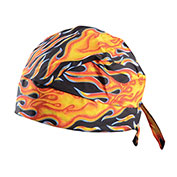 Deluxe Tie Hat With Elastic Rear Band, Flame, 12 Pack - Pkg Qty 12