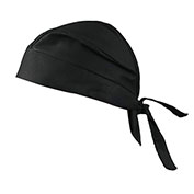Deluxe Tie Hat With Elastic Rear Band, Flame Resistant, Black, 12 pack - Pkg Qty 12