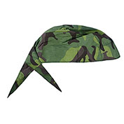 Deluxe Tie Hat With Elastic Rear Band, Jungle Flage, 12 Pack - Pkg Qty 12