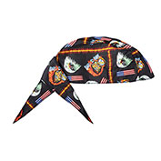 Deluxe Tie Hat With Elastic Rear Band, Motorbike, 12 Pack - Pkg Qty 12