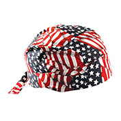 Deluxe Tie Hat With Elastic Rear Band, Wavy Flag, 12 Pack - Pkg Qty 12