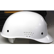 Traditional Bump Cap with Suspension, White