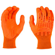 Mad Grip Thunderdome™ Impact Glove, High Vis Orange, XXL, 0MG10F5-HIVSOR-XXLarge