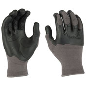 Mad Grip Pro Palm Knuckler Performance Work Glove, Gray/Black, XS, 0MG3F5-GRYBLK-XS