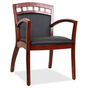 Lorell® Crowning Accent Wood Guest Chair - Black/Cherry