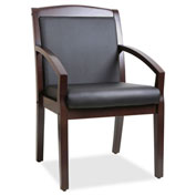 Lorell® Sloping Arms Wood Guest Chair - Black/Espresso