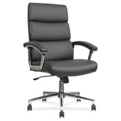 Lorell® Leather High-Back Chair - Black