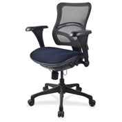 Lorell® Mid-Back Fabric Seat Chair - Mesh Back - Periwinkle Blue