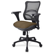 Lorell® Mid-Back Fabric Seat Chair - Mesh Back - Roulette
