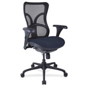 Lorell® High-Back Fabric Seat Chair - Mesh Back - Periwinkle Blue