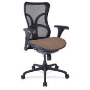 Lorell® High-Back Fabric Seat Chair - Mesh Back - Malted