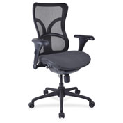 Lorell® High-Back Fabric Seat Chair - Mesh Back - Chambray
