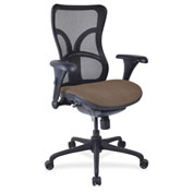 Lorell® High-Back Fabric Seat Chair - Mesh Back - Roulette