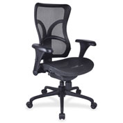 Lorell® Full Mesh High-Back Adjustable Chair