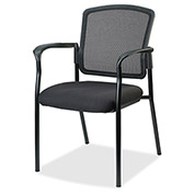Lorell® Breathable Mesh Guest Chair - Black