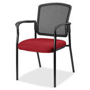 Lorell® Breathable Mesh Guest Chair - Real Red