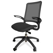 Lorell® Vortex Self-Adjusting Weight-Activated Task Chair - Black with Black Frame