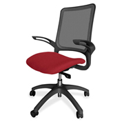 Lorell® Vortex Self-Adjusting Weight-Activated Task Chair - Real Red with Black Frame
