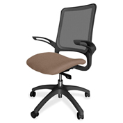 Lorell® Vortex Self-Adjusting Weight-Activated Task Chair - Malted with Black Frame