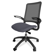 Lorell® Vortex Self-Adjusting Weight-Activated Task Chair - Chambray with Black Frame