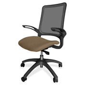 Lorell® Vortex Self-Adjusting Weight-Activated Task Chair - Roulette with Black Frame