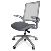 Lorell® Vortex Self-Adjusting Weight-Activated Task Chair - Gray with Black Frame