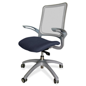 Lorell® Vortex Self-Adjusting Weight-Activated Task Chair - Periwinkle Blue with Gray Frame