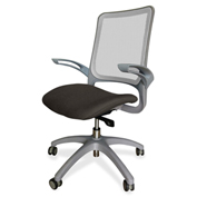 Lorell® Vortex Self-Adjusting Weight-Activated Task Chair - Pepper with Gray Frame